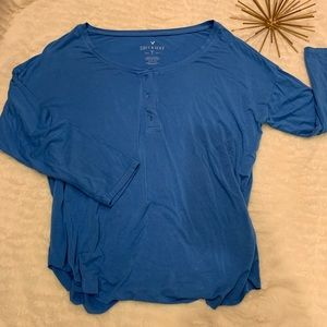 Like New American Eagle Soft & Sexy Blue Top